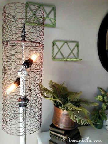 Diy chicken wire lamp shade stowtellu diy chicken wire lamp shade stowandtellu greentooth Images