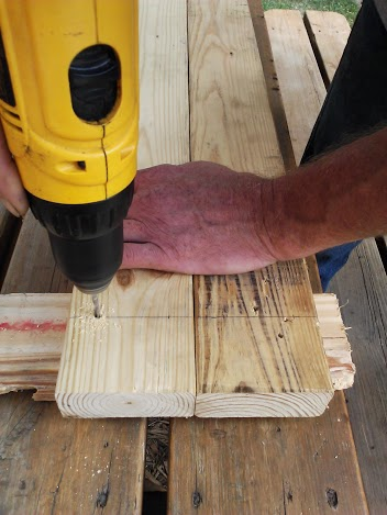 screw to piece of wood when gluing