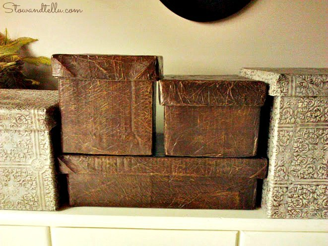 Faux Leather Storage Box With Lid