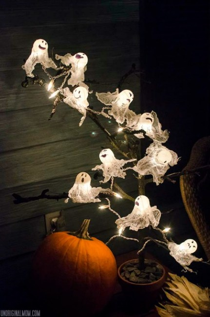 Ping pong ball ghost lights - Ginger Snap Crafts