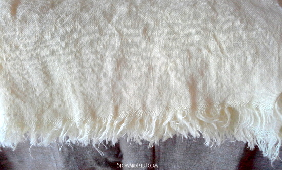 How to wash and dry burlap-StowandTellU