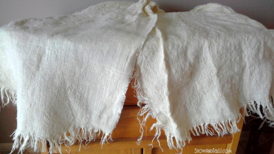 How to wash and dry burlap and what to expect - StowandTellU