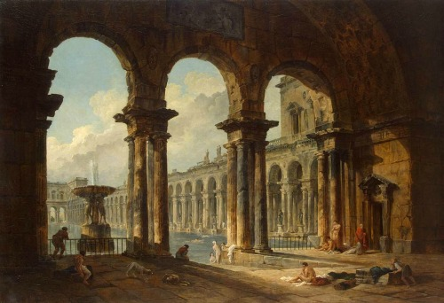 Robert,_Hubert_-_Ancient_Ruins_Used_as_Public_Baths_-_1798