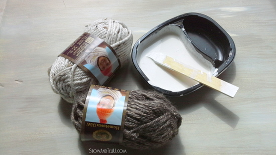 match paint color to yarn color