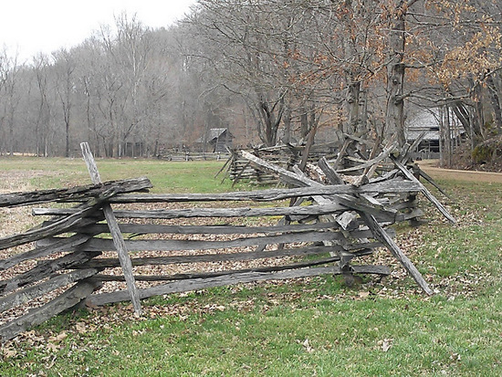split rail fence - The Homeplace