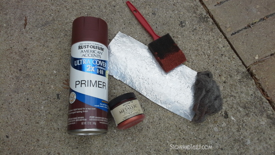 paint-supplies-needed-to-make-faux-hammered-copper