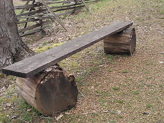 log bench-the homeplace lbl