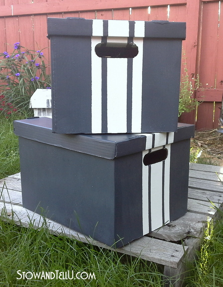 diy-grain-sack-stripe-painted-storage-box