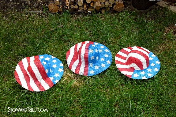 how-to-make-stars-stripes-straw-hats