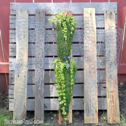 chicken-wire-pallet-wood-garden-container