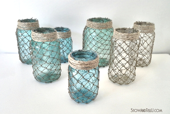 beachy-coastal-netting-wrapped-jars