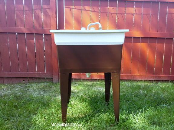How To Spray Paint Laundry Tub