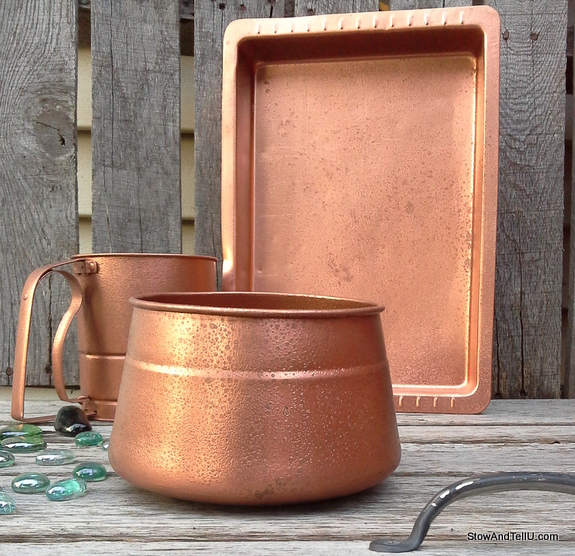 easy faux hammered copper paint technique stow tellu