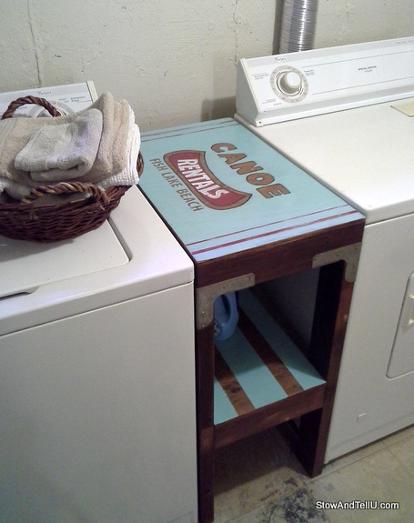laundry-table-with-canoe-rental-signage