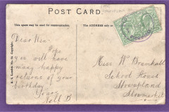 1907 addressed post card