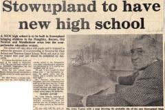 Press cutting, new high school