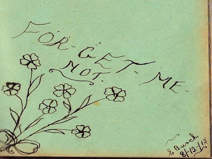 forget-me-not autograph