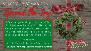 staff christmas bonus
