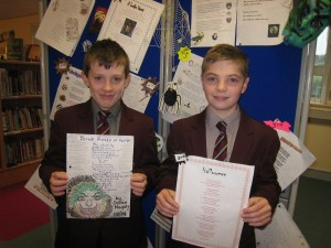 Caolan Murphy Highly Commended and James Babe in 3rd Place. Both boys from 08/74