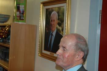 Mr Michael Warde unveils his protrait