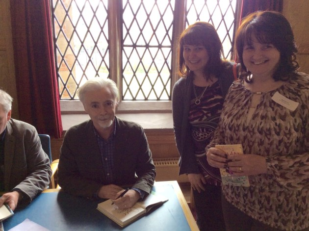 Eoin Colfer signing books for St Paul's