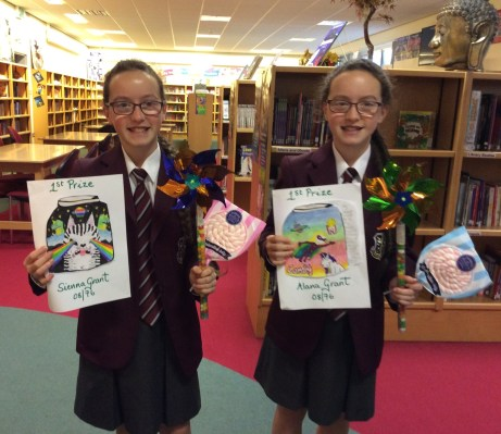 Winners from Year 8 Dream in a Jar Competition