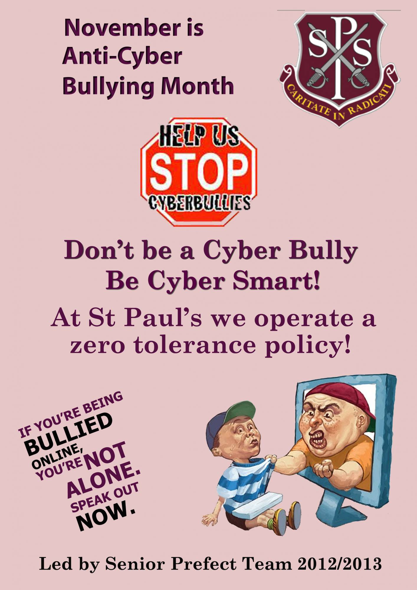 Stamp Out Cyber Bullying St Paul S High School
