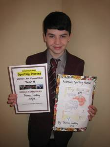 Thomas Lindsay, Year 9 was given a Highly Commended award for his book cover.