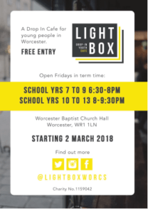 lightbox advert for St Paul's church