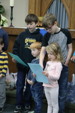 Students sing carols to Bartels residents