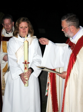 Lighting the Easter Candle