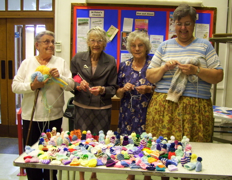 A few of the knitters