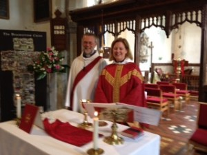 Helena and her deacon, Chris Burch