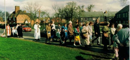photo of the procession