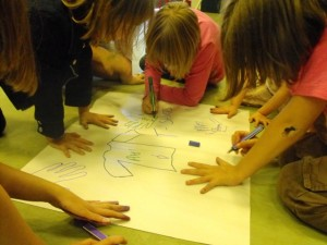 Photo: Children doing some creative consultation!