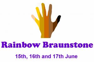 Rainbow Braunstone Logo and Dates