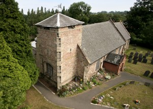 Photo: Aerial view of the church