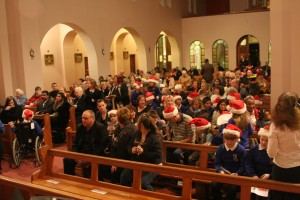 Photo: The church fills up before the service