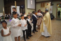 Recieving Baptismal Candles