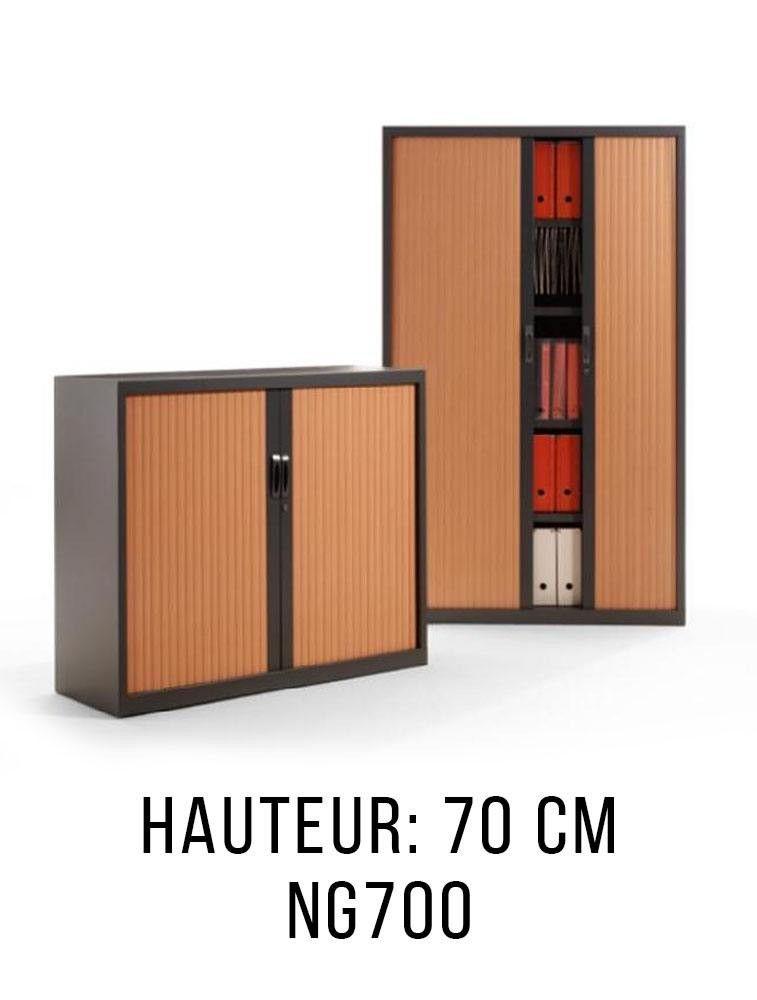 armoire gapsa ng700 metallique a rideaux monobloc basse hauteur 70 cm