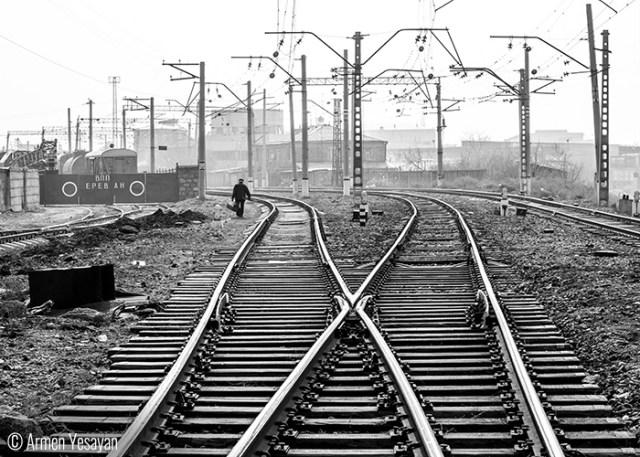 Armen Yesayan On the tracks - Sasuntsi Davit train station  Yerevan - It's amazing t