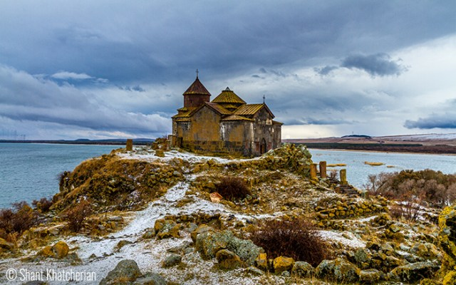 Shant Khatcherian (Laval/Quebec. Canada).  Hayravank – Sevan Lake – Located north-east of a village with its name, this 9th – 12th century monastery consist of a church, chapel and a narthex.