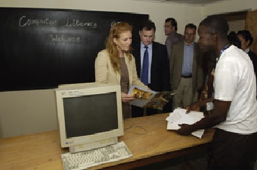 Fergie and Jordan in Liberia