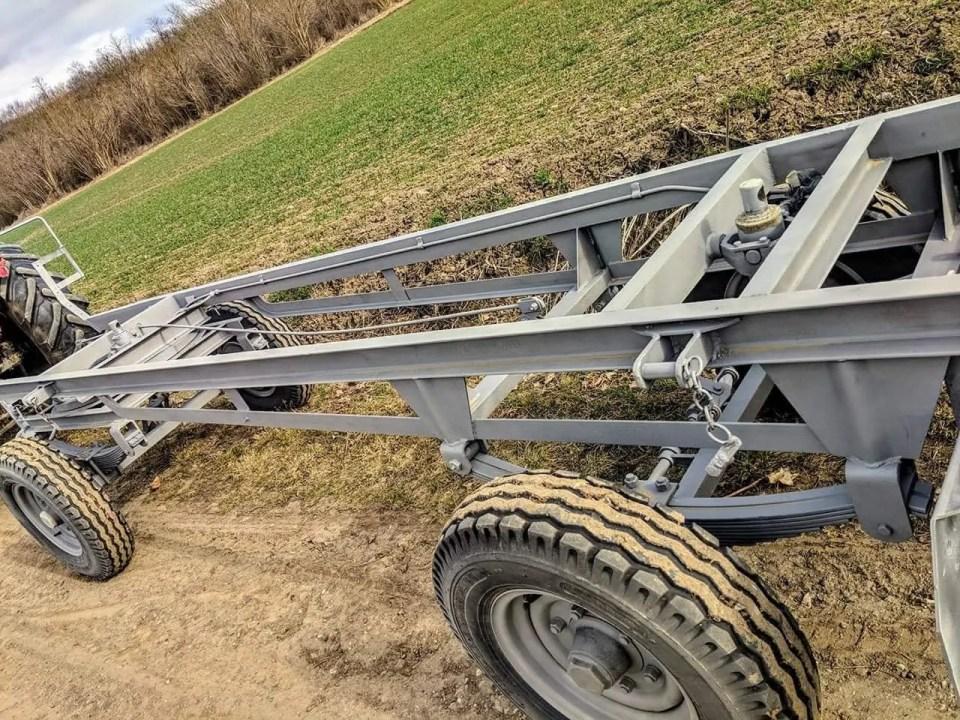 Traktor Anhänger Sandstrahlen
