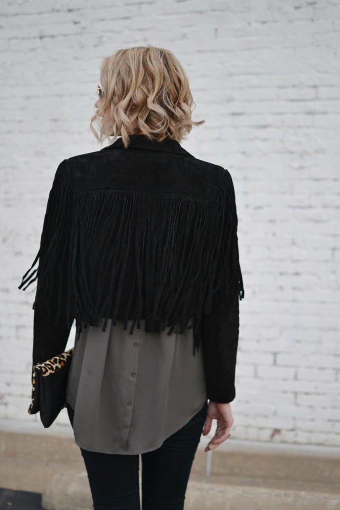 pleione blouse, fringe jacket
