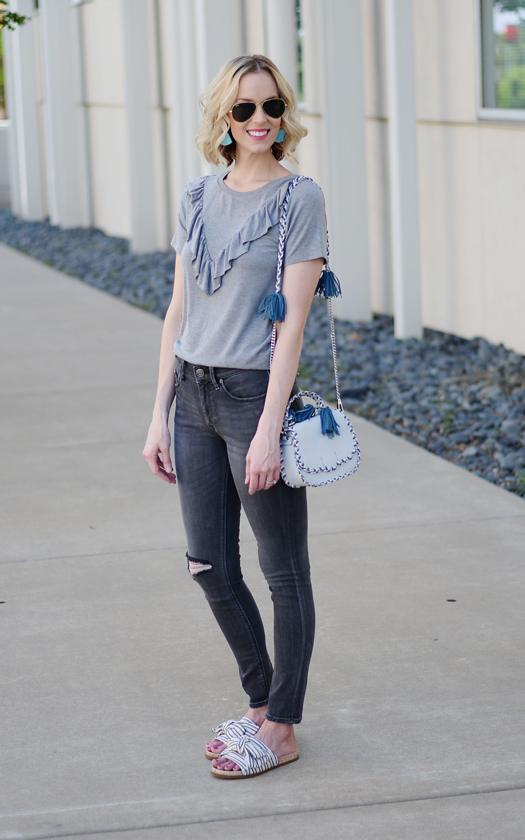 37157d55ec6 Monochrome Grey Casual Outfit - Straight A Style