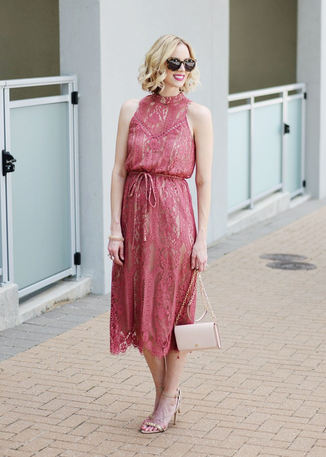 lace overlay dress, dressy dress, berry colored dress