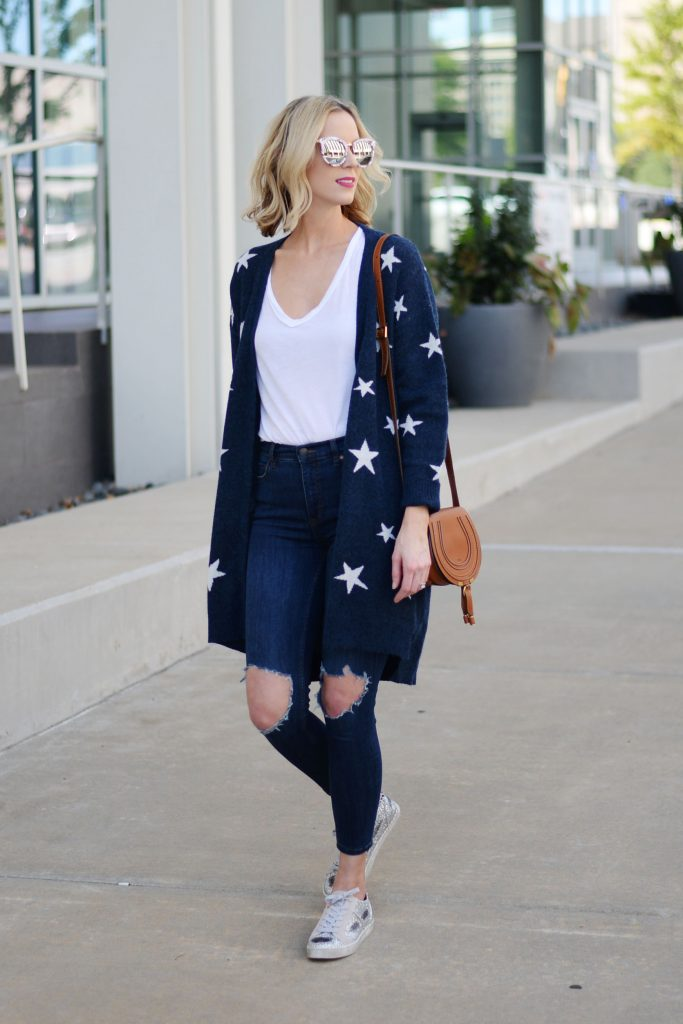 3fd7d0d9aff Star Cardigan  Easy Casual Outfit - Straight A Style