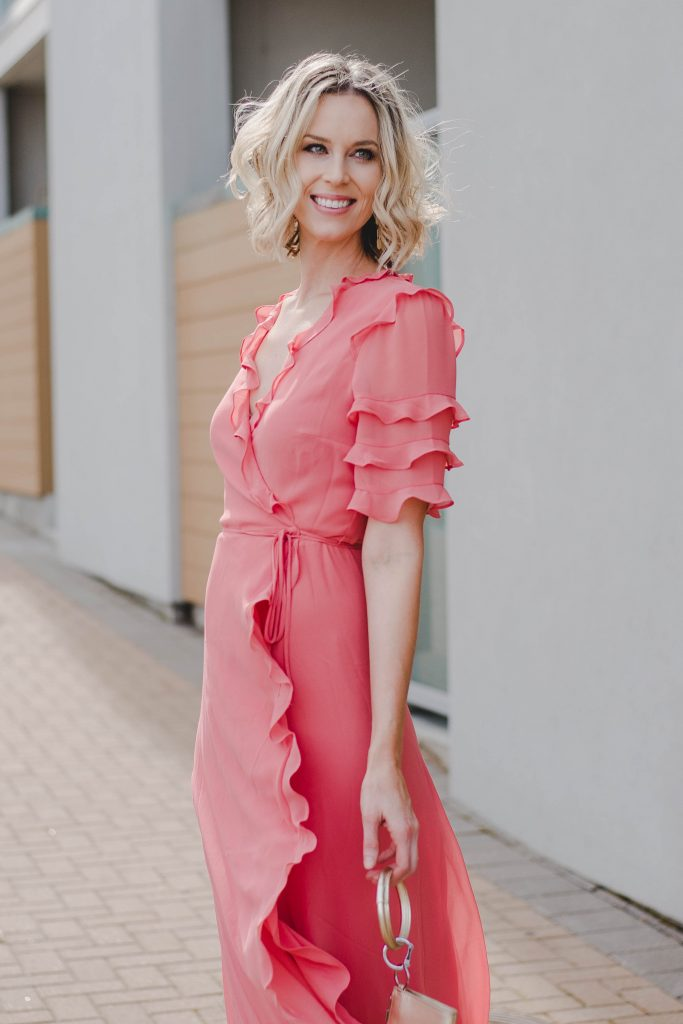 5aa4f0d266a67 Ruffle Wrap Maxi Dress - Straight A Style
