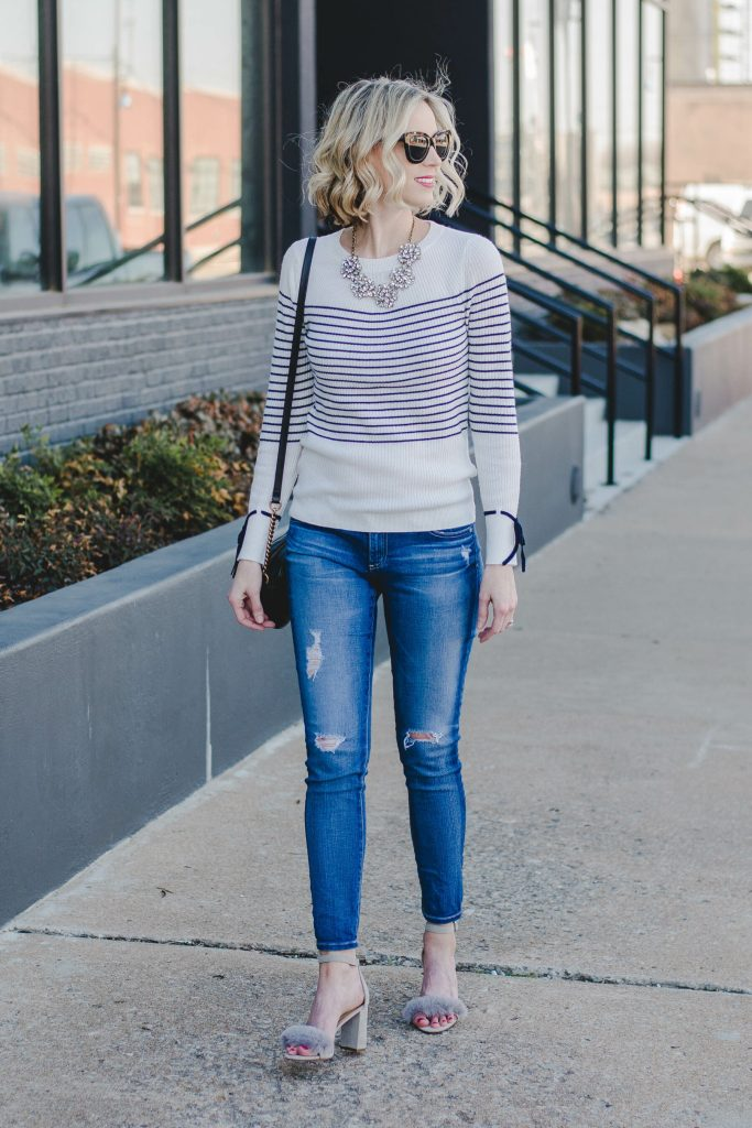 striped sweater for spring